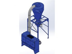 15 HP Chip Collector with Filter Bank