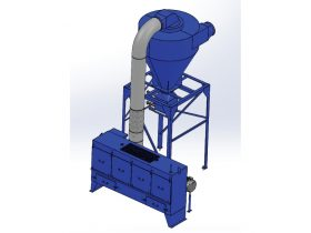 20 HP Chip Collector with Filter Bank